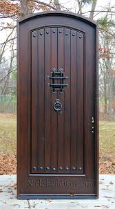 single front doorsRustic Arched Exterior Single Doors