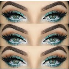 shimmering silver and sky blue eye makeup tutorial
