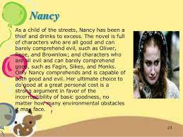 oliver twist presentation nancy