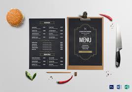 Menu Board Design Cafe Menu Board Template