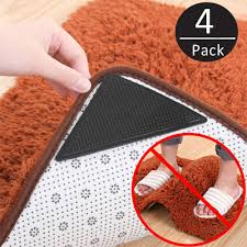4 pack rug grippers stopper anti slip rubber