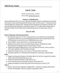Professional Summary Resume Worthy Skills In Sample 8 Examples