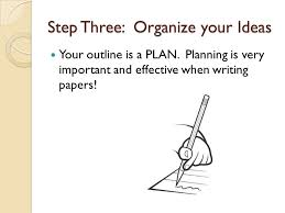 writing a five paragraph essay review mrs klaus ppt  step three organize your ideas your outline is a plan