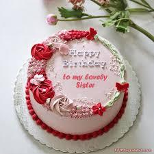 sister birthday wishes cake