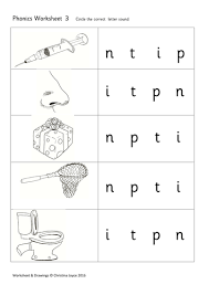 Phonics worksheets and online activities. Phonics Picture Match 3 T P I N Teaching Resources