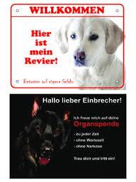 Luguno Hundewarnschild Schäferhund Lustiges Türschild 20x15 Cm
