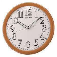 wooden round seiko quartz wall clock