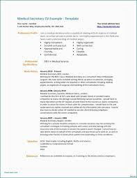 Nhs Resume Examples Resume Sample For Administrative Secretary Fresh Medical