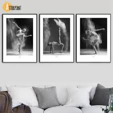 Us 3 37 49 Off Aliexpress Com Buy Dance Pose Girl Body Wall Art Canvas Painting Nordic Posters And Prints Black White Wall Pictures For Living