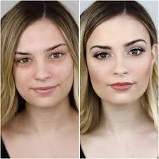 before and after makeup beauty transformation natural velvet teddy mac cosmetics