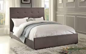 upholstered bed grey. Homelegance Cadmus Upholstered Bed - Dark Grey