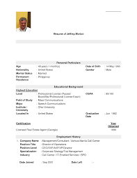Resume Example For Call Center Agent Without Experience Resume