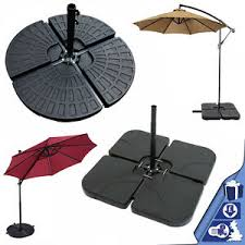 set of 4 parasol base weight outdoor