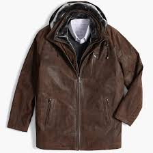 pigskin leather stroller jacket with hood