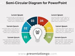For Powerpoint Semi Circular Diagram For Powerpoint Presentationgo Com