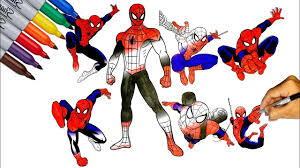 Coloriage ultimate spiderman white tiger 2. Ultimate Spider Man Coloring Pages Ultimate Spider Man Actions Let Color Spider Man Youtube