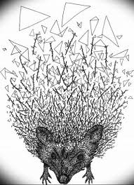 Photo ежик тату эскиз 31072019 022 Hedgehog Tattoo Sketch
