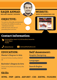 Free Cv Template For Graphic And Web Designers By Saqib Ahmad Via