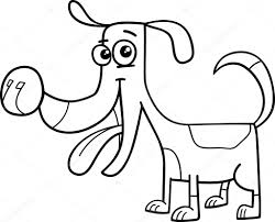 Grappige Hond Kleurplaat Stockvector Izakowski 79706740