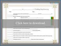 Template For A Wedding Day Itinerary Lovetoknow