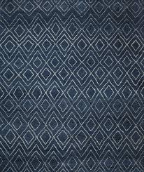 wonderful navy rug 8x10 rugsville moroccan beni ourain double diamond wool 37024