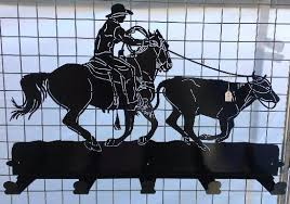Cowboy Coat Rack Cool Coat Rack Roping Cowboy RRM Wall Art Fire Pits