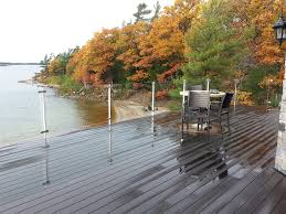 a 3 fortunately for us glass deck railings