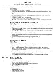 Sample Nurse Manager Resumes Registered Nurse Manager Resume Samples Velvet Jobs