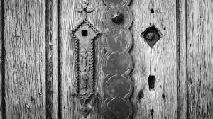 door lock and key black and white. Beautiful And Old Wooden Door In Black And White Vignetting Vintage Style With Ornament  Key Lock Stock Throughout Door Lock And Key Black White O