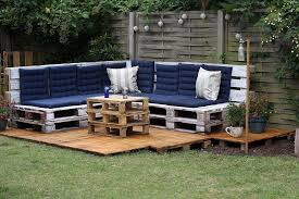 garden furniture made with pallets. Image Of: Simple Outdoor Furniture Made From Pallets Garden With