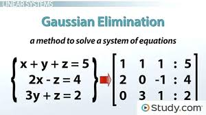 how to solve system of equations using matrices math how to solve linear systems using elimination lesson transcript solve system of equations matrix