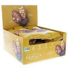 Sahale Snacks,<b>Глазированная смесь</b>,<b>миндаль в</b> меде,9 пак. ( 42 гр)