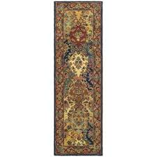 heritage multi burdy 2 ft x 10 ft runner rug