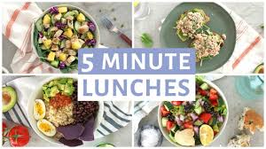 Cost Of Light And Easy Meals Easy 5 Minute Lunch Recipes Healthy Lunch Ideas