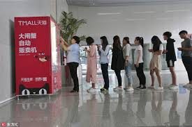 Crab Vending Machine Best Customers Rush To Hairy Crab Vending Machine[48] Chinadailycn