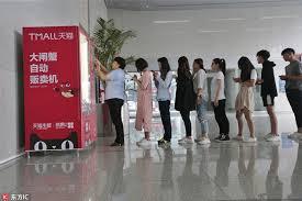 Crab Vending Machine China Stunning Customers Rush To Hairy Crab Vending Machine[48] Chinadailycn