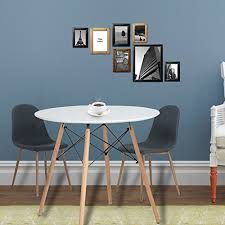 office kitchen table. Eames Kitchen Dining Table Vogue Carpenter Round Coffee White Modern Leisure Wooden Tea Office Conference Pedestal Desk T