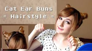 Cat Hair Style cute cat ear buns hairstyle youtube 2314 by stevesalt.us