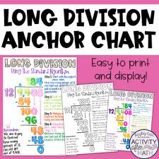 long division anchor chart long division standard algorithm anchor chart