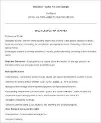 Sample Special Education Teacher Resume Special Education Cover