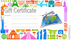 travel voucher template free travel gift certificate template free 2 one package