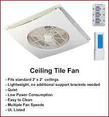 Ceiling Fan For 2x2 Suspended Ceiling