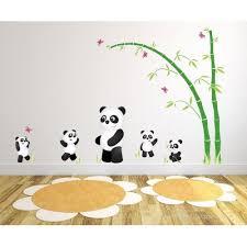 panda wall decals panda bear nursery wall stickers 5  on giant panda wall art with panda wall decals panda bear nursery wall stickers 5 pandas