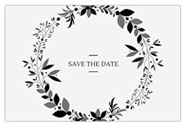 Save The Date No Photo Amazon Com 30 Save The Date Cards For Wedding Engagement