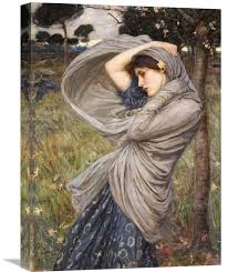 boreas by john william waterhouse painting print on wrapped canvas