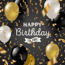Black Happy Birthday Us 18 0 Happy Birthday Black White Glitter Gold Balloon Party Photo Background Photography Backdrops Quality Vinyl In Background From Consumer