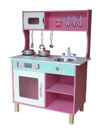 home role play kitchens kiddi style large modern wooden kitchen pink