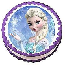 Frozen Elsa Edible Frosting Sheet Cake Topper 75 Round By Cake