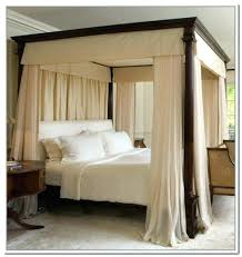 Canopy Bed Frame With Curtains Black Canopy Bed Curtains Frames ...