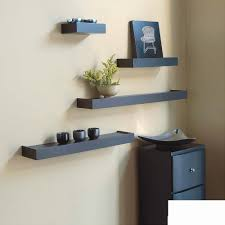 ... Inplace Shelving Floating Wood Wall Shelf Espresso Cream Colored Wall  Black Rectangular Shape Picture Frame Espresso ...